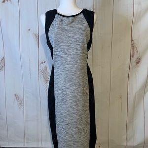 Athleta Cityscape Gray & Black Dress